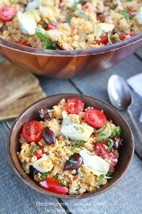 Cous Cous Salad in Bowl with tomatoes