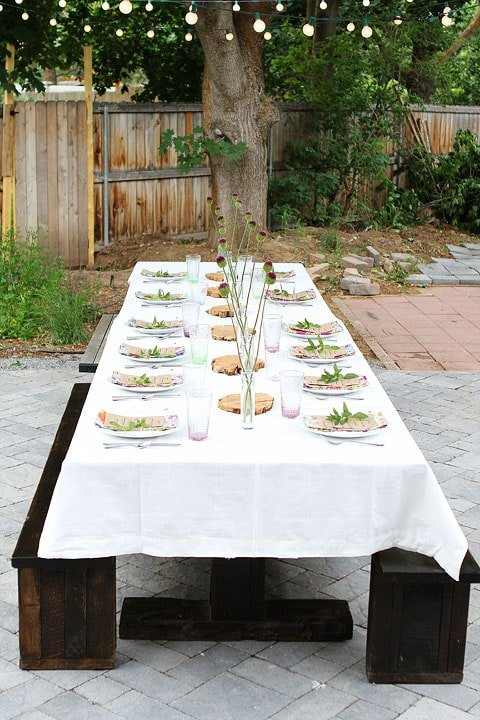 Ordinary Outdoor Dinner Party Ideas Part - 8: Outdoor Dinner Party On Twopeasandtheirpod.com