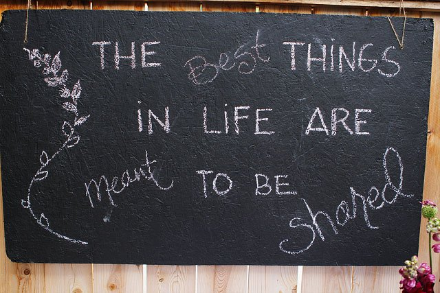 DIY Chalkboard for dinner parties on twopeasandtheirpod.com