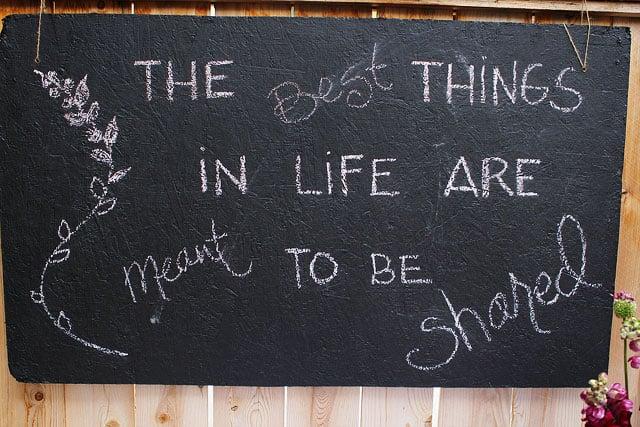 DIY Chalkboard for dinner parties on twopeasandtheirpod.com