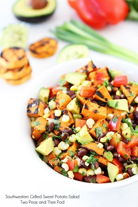 Southwestern Grilled Sweet Potato Salad in bowl