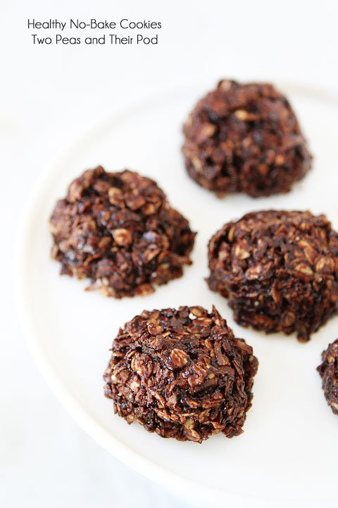 No Bake Cookies Healthier Version Two Peas Their Pod