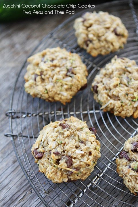 Zucchini Chocolate Chip Cookies Two Peas Their Pod