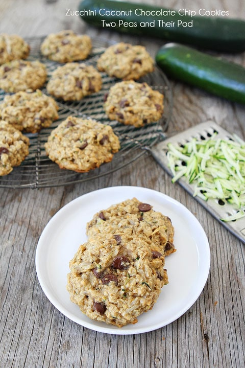 Zucchini Coconut Chocolate Chip Cookie Recipe