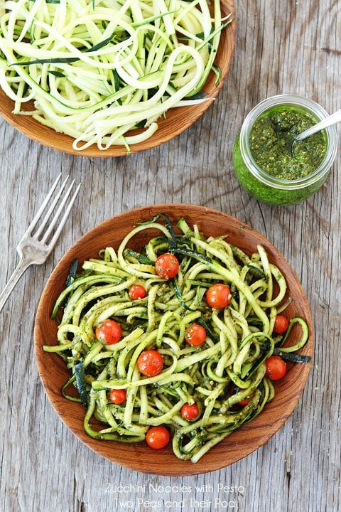 zucchini noodles with pesto two peas their pod. Black Bedroom Furniture Sets. Home Design Ideas