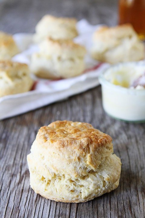 Greek Yogurt Biscuits Recipe on twopeasandtheirpod.com Fluffy and tender biscuits made with Greek Yogurt!