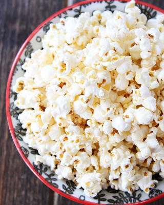 homemade Kettle Corn in large bowl