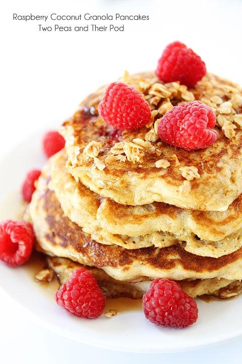 Raspberry-Coconut-Granola-Pancakes-8