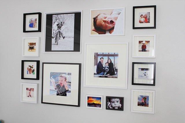 DIY Gallery Wall on twopeasandtheirpod.com