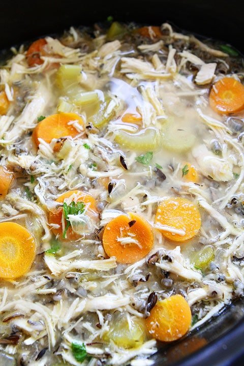 slow cooker chicken and wild rice soup crockpot soup recipe. Black Bedroom Furniture Sets. Home Design Ideas