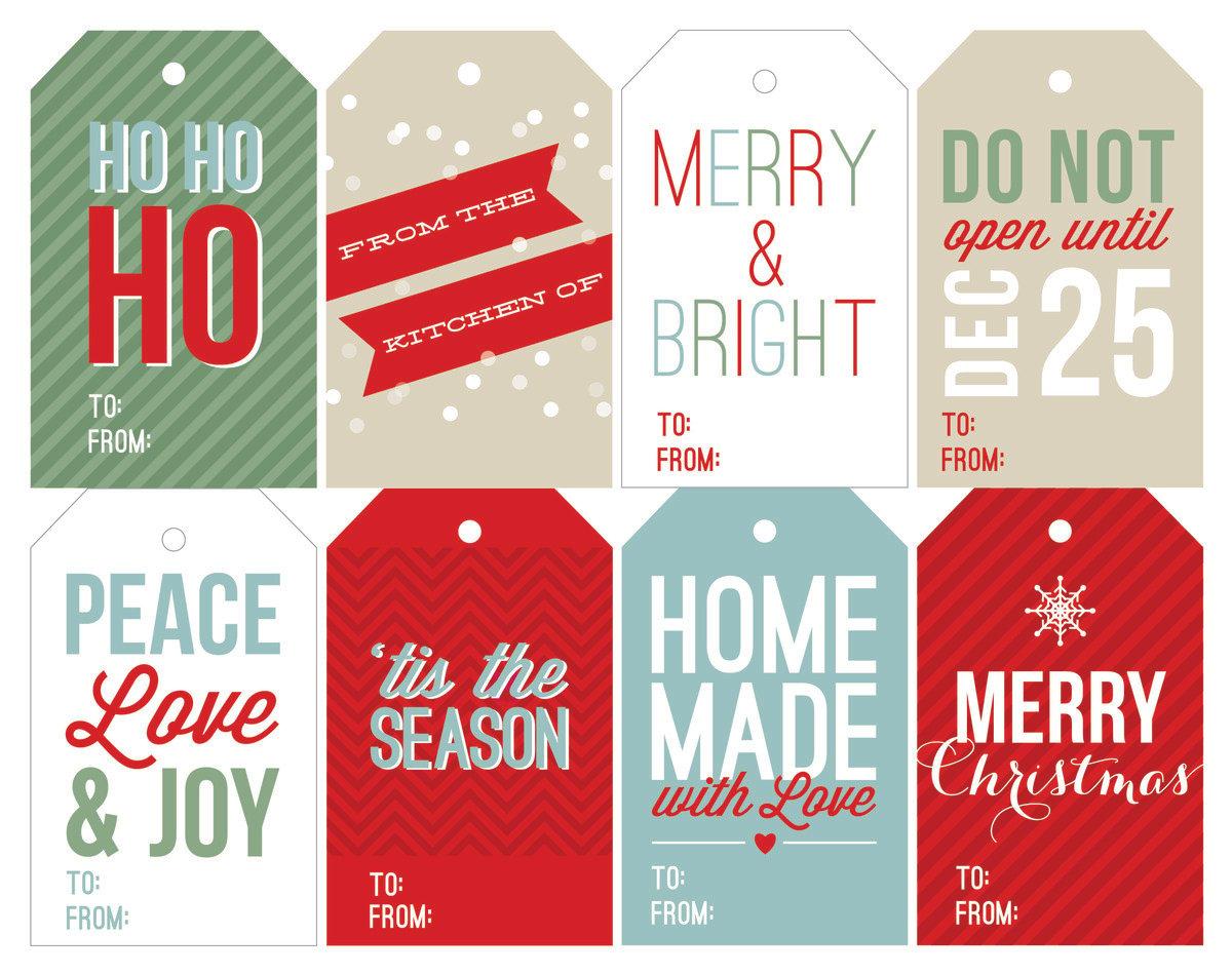 image relating to Free Printable Santa Gift Tags identify No cost Family vacation Printable Reward Tags