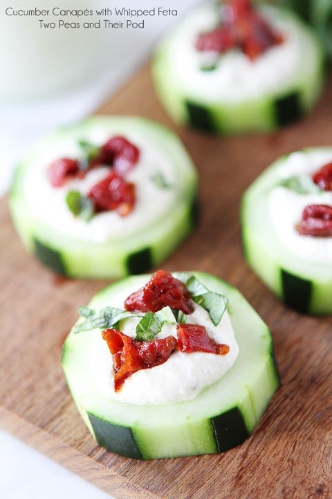 Cucumber canap s recipe two peas their pod for Christmas canape