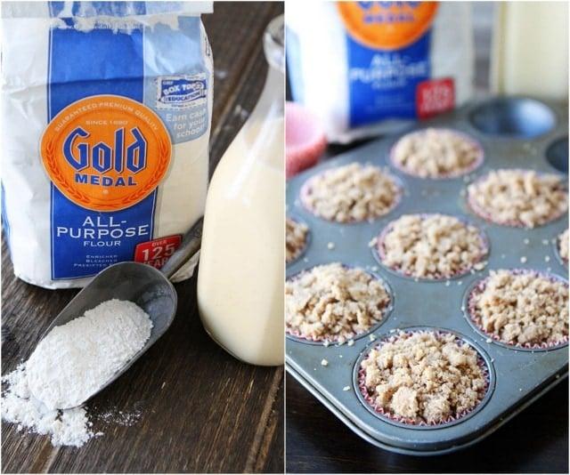 Eggnog Coffee Cake Muffins Recipe on twopeasandtheirpod.com