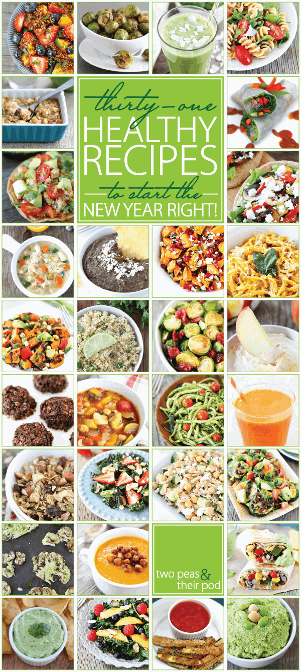 31 Healthy Recipes to Start 2014 Right on twopeasandtheirpod.com I want to make them all!