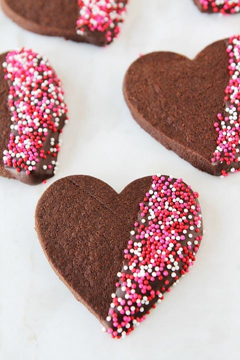 chocolate shortbread recipe | chocolate-dipped shortbread | two, Ideas