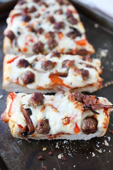 French Bread Pizza with Sausage