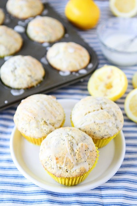 Lemon Poppy Seed Muffins out of the oven