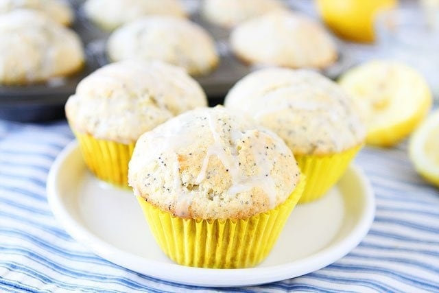 freshly baked Lemon Poppy Seed Muffins