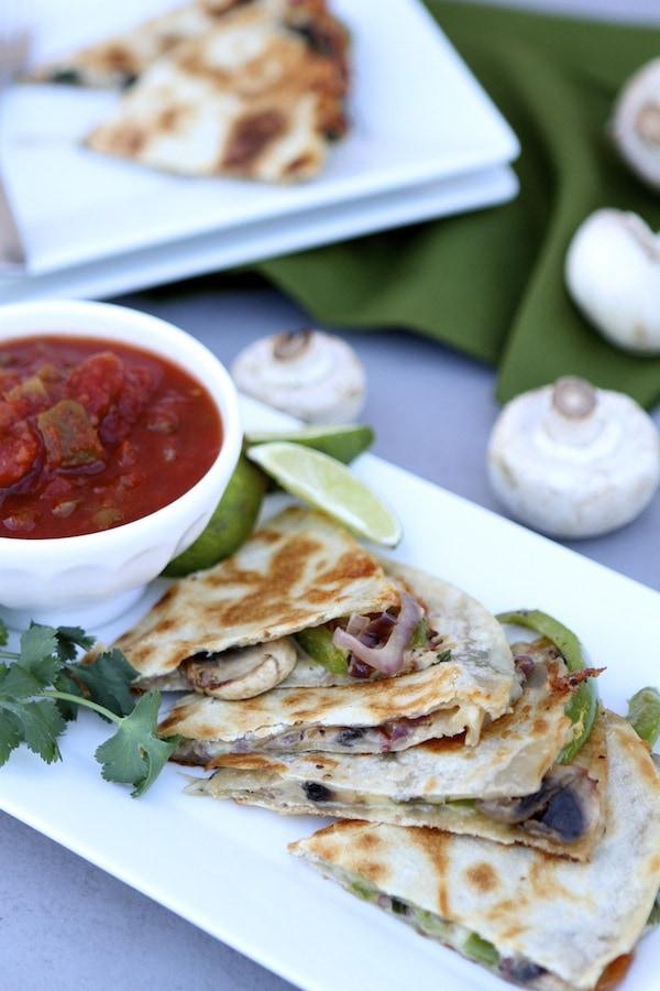 Fajita Quesadilla Recipe on twopeasandtheirpod.com