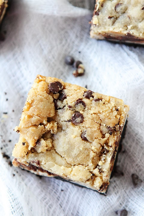 Oreo Cheesecake Cookie Dough Bars Recipe on twopeasandtheirpod.com These bars are amazing!