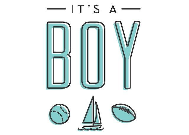 Boy Or Girl Two Peas Their Pod - Boy announcement