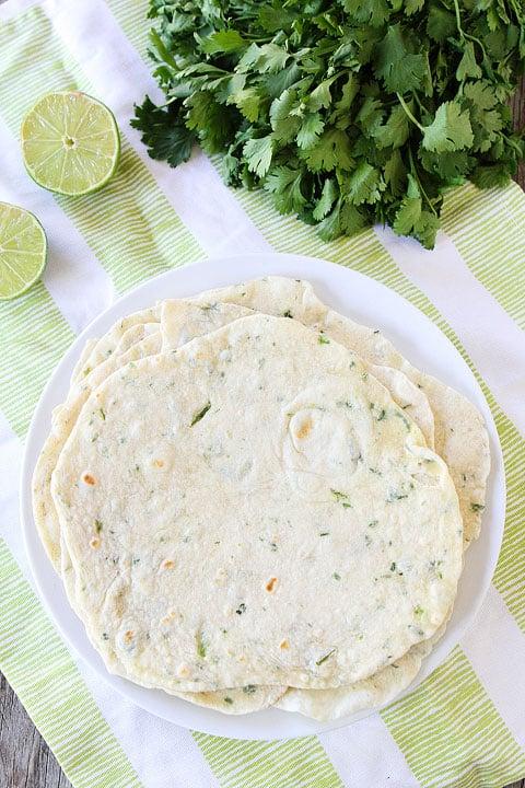Homemade tortillas made from Easy tortilla recipe