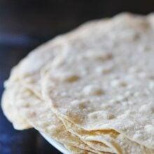 Homemade tortillas from easy tortilla recipe