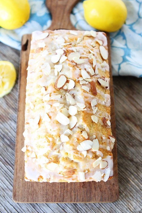 Lemon Almond Bread is great for breakfast, brunch, or dessert!