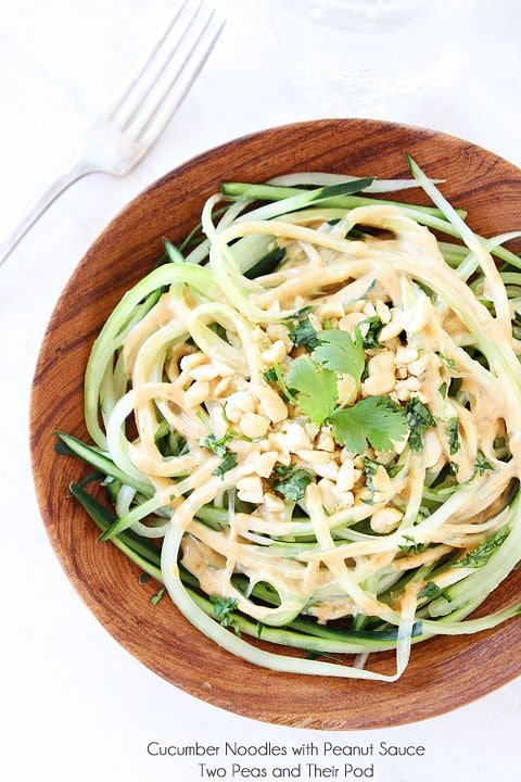 Easy Cucumber Noodles with Peanut Sauce Makes a great light lunch or dinner