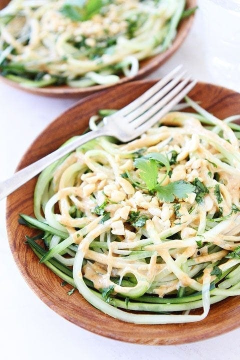 Cucumber Noodles with Peanut Sauce Recipe Perfect light and healthy dish for spring and summer!