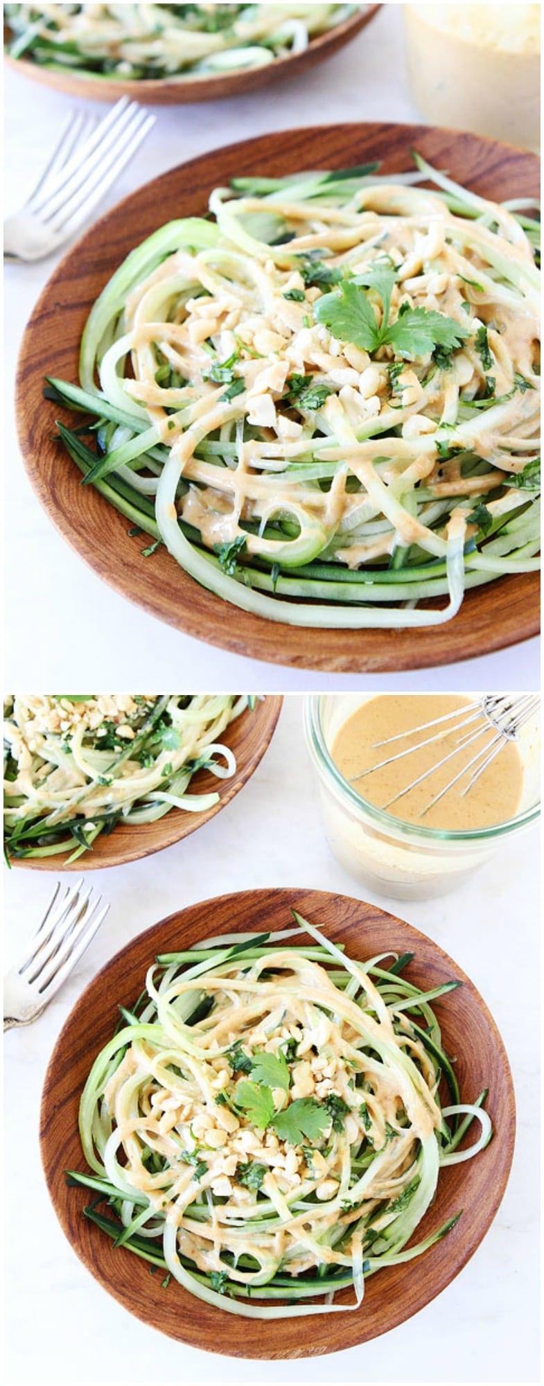 Cucumber Noodles with Peanut Sauce Recipe