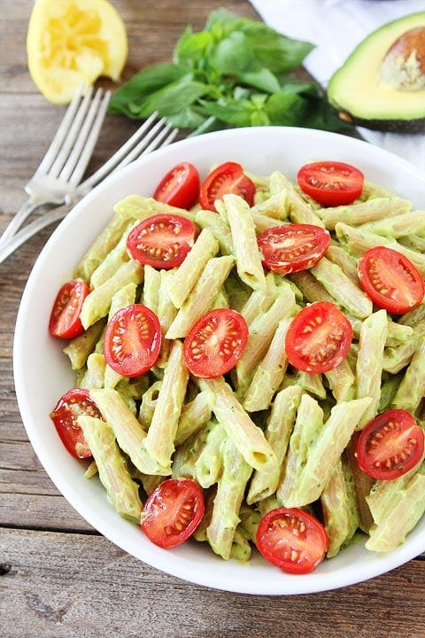 Avocado Goat Cheese Pasta Recipe