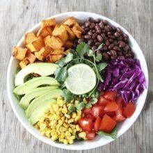 Sweet Potato And Black Bean Mexican Salad
