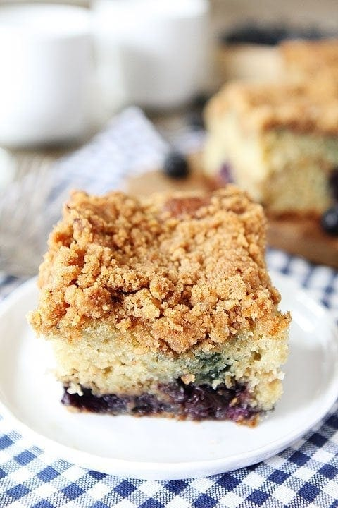 Moist Coffee Cake With Blueberries
