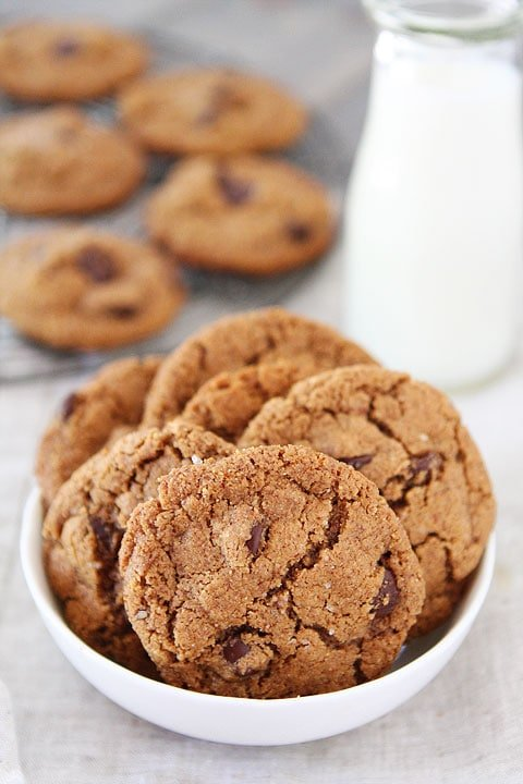 Flourless Almond Butter Chocolate Chip Cookies Recipe