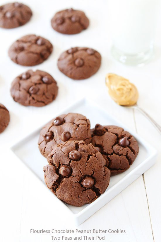 Chocolate Peanut Butter Cookies with no flour