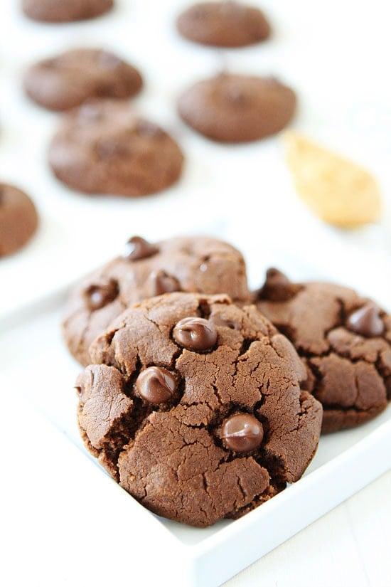 Gluten free Chocolate Peanut Butter Cookies no flour