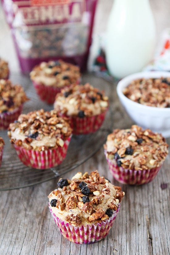 Mixed Berry Granola Muffins Recipe on twopeasandtheirpod.com Love this easy and healthy muffin recipe! #muffins #breakfast