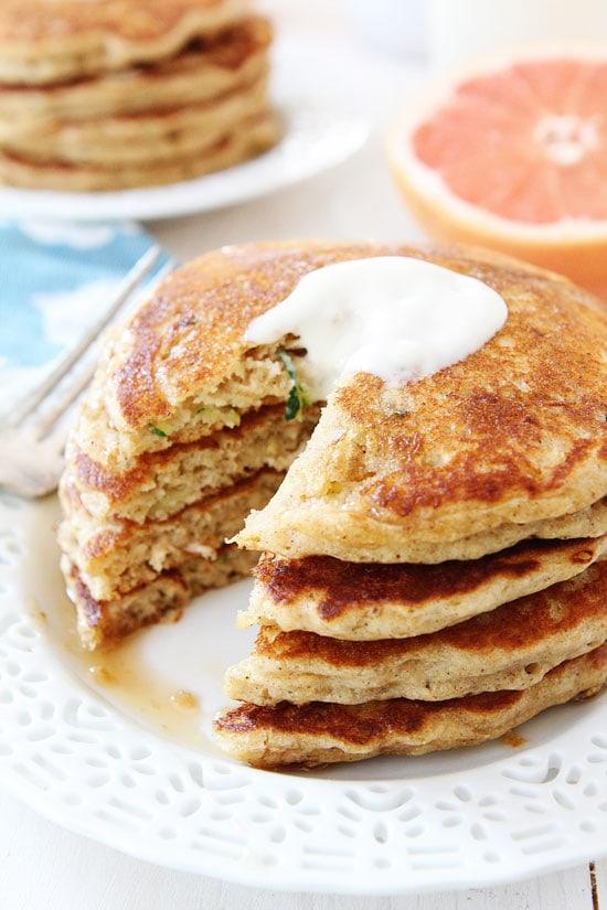 Zucchini Pancakes that tastes like zucchini bread