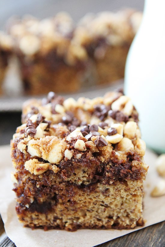 Banana Cake with Chocolate Chip Hazelnut Streusel Recipe