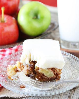 Fresh apple cake made from easy apple cake recipe