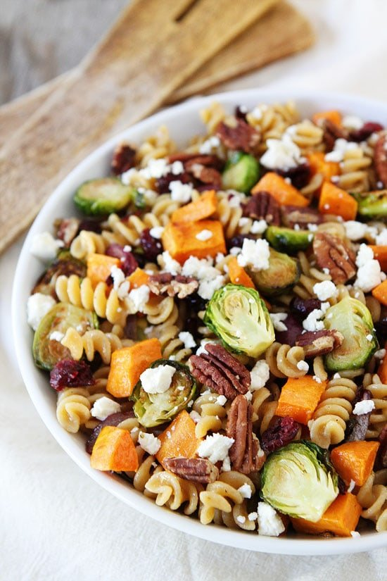 Brown Butter Pasta with Sweet Potatoes and Brussels Sprouts Recipe