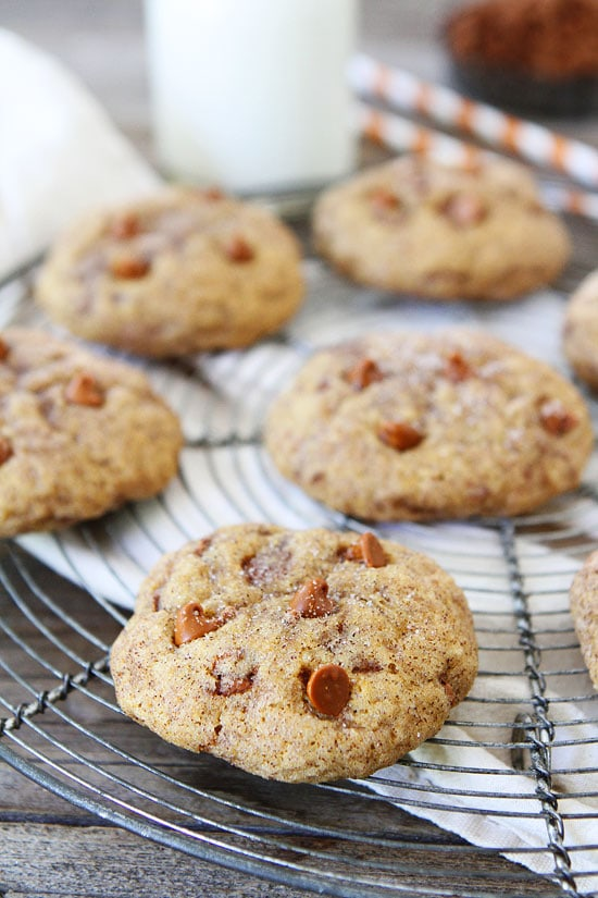 Pumpkin Cinnamon Cookies are soft pumpkin cookies with cinnamon chips