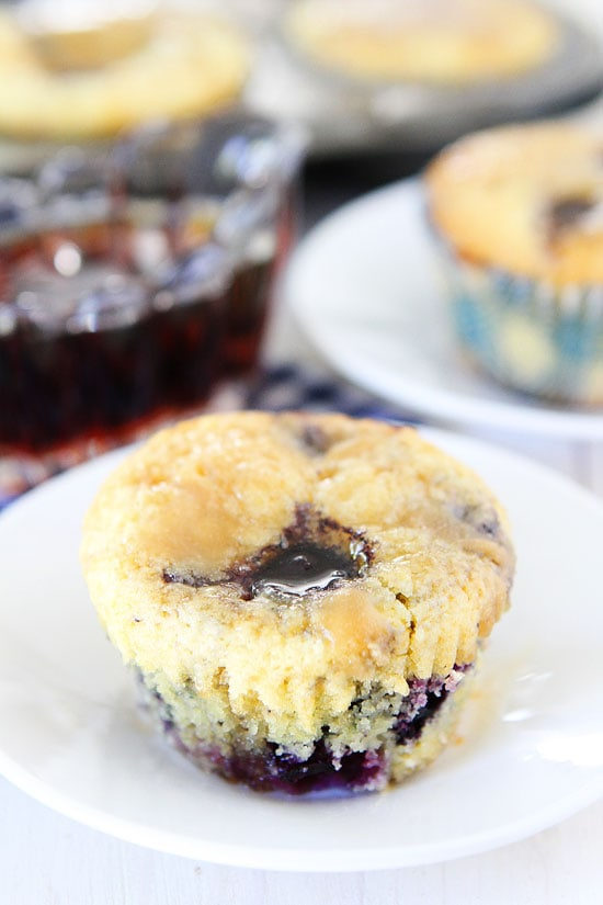 Blueberry Pancake Muffins on twopeasandtheirpod.com