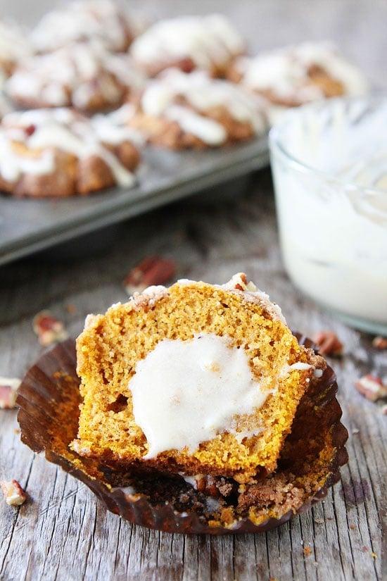 Brown Butter Pumpkin Streusel Muffins with Brown Butter Glaze Recipe