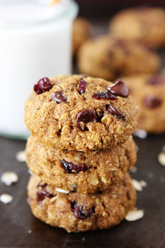 Vegan Pumpkin Breakfast Cookies on twopeasandtheirpod.com