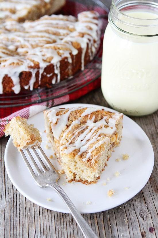 Eggnog White Chocolate Streusel Cake Recipe