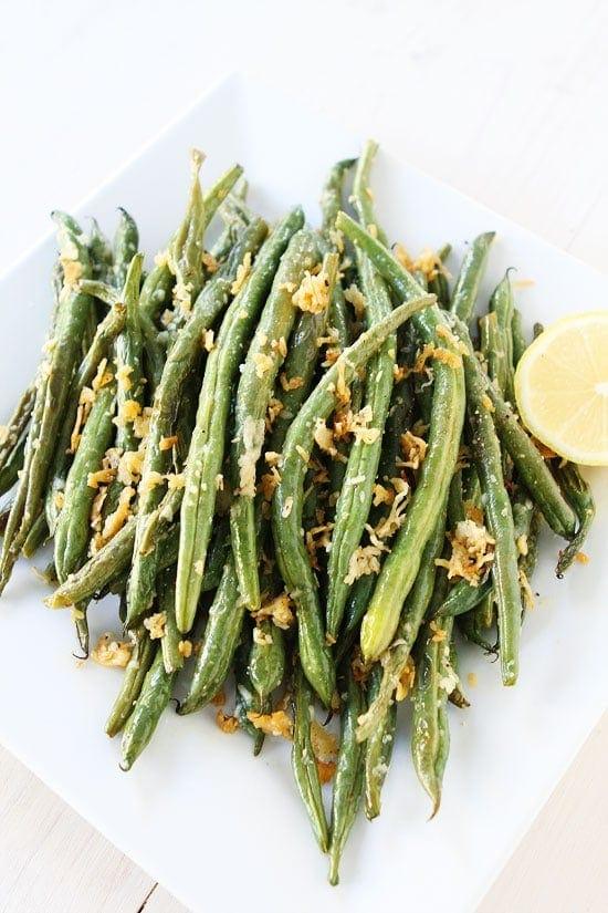 Roasted Lemon Parmesan Green Beans Recipe