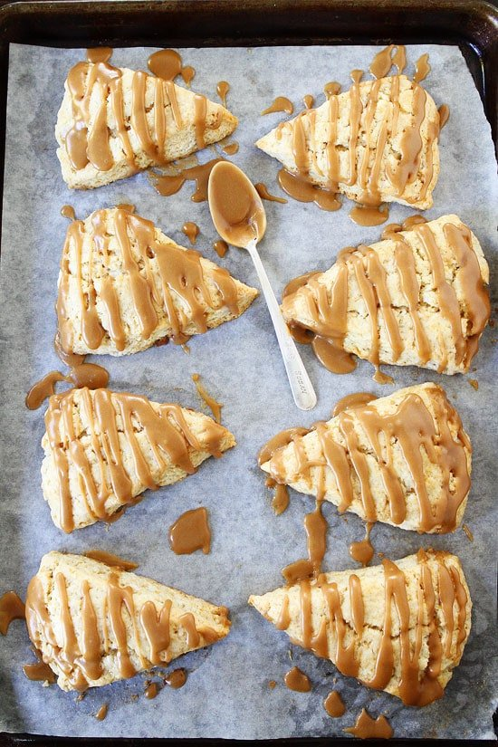 Maple Scones on baking sheet