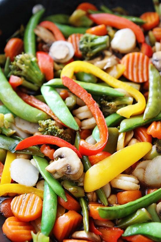 Easy Chickpea Vegetable Stir Fry Recipe